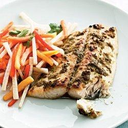 Jerk Mackerel with Papaya Salad