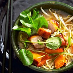 Ramen with Ginger Roasted Squash and Crispy Pork Belly recipe