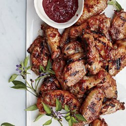 Smokin' Sweet Chicken Wings with Cherry Barbecue Glaze