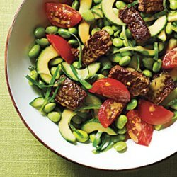 Edamame Salad with Crisp Steak Bits