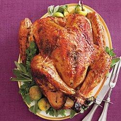 Maple-Glazed Turkey with Onion-Cider Gravy