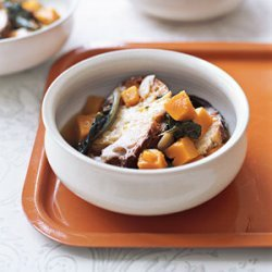 Vegetable Soup with Parmesan Toasts