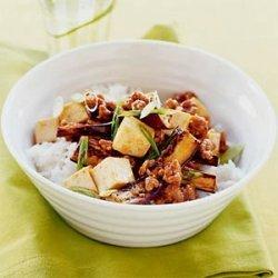 Spicy Eggplant, Pork, and Tofu Stir-fry