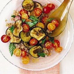 Bulgur Wheat Salad with Tomato and Eggplant