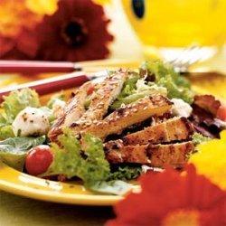 Chicken Pastor Salad with Avocado Vinaigrette