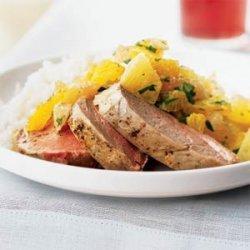 Pork Tenderloin with Xec (Mayan Citrus Salsa) recipe