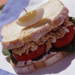 Tuna Niçoise Sandwiches with Olive Mayonnaise