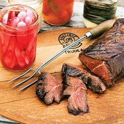 Korean-Style Grilled Hanger Steak with a Pickle Bar for the Beach
