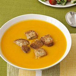 Squash Soup with Whole-Grain Croutons