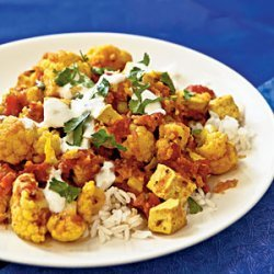 Indian-Style Tofu and Cauliflower with Chutney