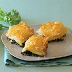 Mustard Green and Fontina Filo Pie recipe