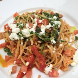 Linguine with Chicken and Spicy Pesto Sauce