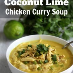 Chicken Curry Soup with Coconut and Lime