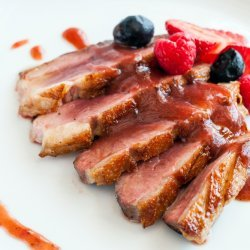 Duck with Blackberry Sauce