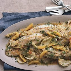 Roasted Farm-Raised Barramundi with Fennel and Orange recipe