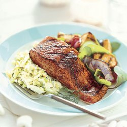 Fennel- and Dill-Rubbed Grilled Salmon recipe