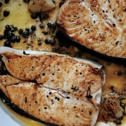 Broiled Fish Fillets with Basil Butter