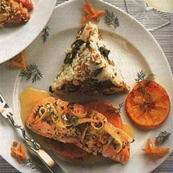 Roasted Salmon with Orange-Herb Sauce recipe