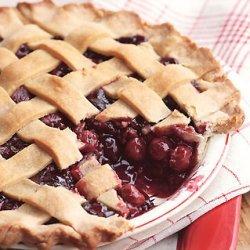 Lattice-Topped Triple-Cherry Pie recipe