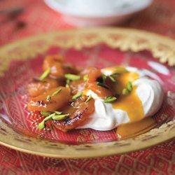 Cognac-Glazed Dried Apricots with Cinnamon-Spiced Yogurt
