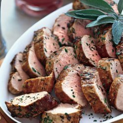 Pan-Seared Pork Tenderloin with Rhubarb Compote