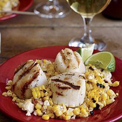 Grilled Scallops with Mexican Corn Salad