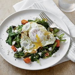 Sauteed Greens with Olive Oil-Fried Eggs