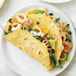 Mediterranean Calamari Tacos recipe