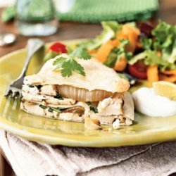 Chicken and Goat Cheese Quesadilla