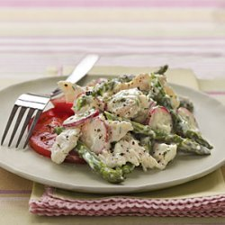 Chicken Salad with Asparagus and Creamy Dill Dressing