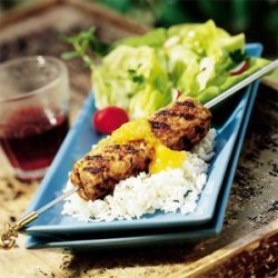 Turkey-Beef Kebabs recipe