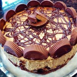 Peanut Butter Cup Brownie Bottom Cheesecake Recipe!.•♥•☆