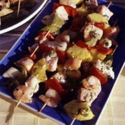 Tequila-Lime Seafood Kebabs