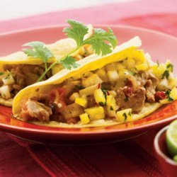 Chipotle Pork Soft Tacos with Pineapple Salsa