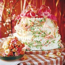 Peaches-and-Cream Wedding Cake recipe