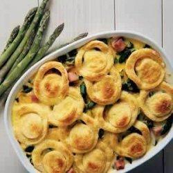 Asparagus Strata (ham and Velveeta)