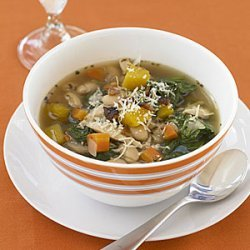 Tuscan Chicken, Bean and Spinach Soup recipe