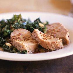Honey-Mustard Pork Tenderloin with Kale recipe