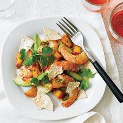 Curried Peach and Shrimp Salad