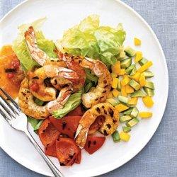 Spicy Shrimp-and-Mango Salad recipe