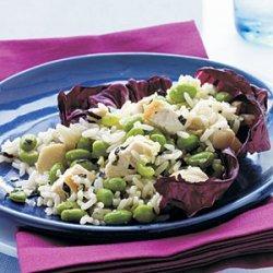 Chicken, Edamame, and Rice Salad recipe