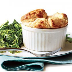 Cheese Souffles with Herb Salad recipe