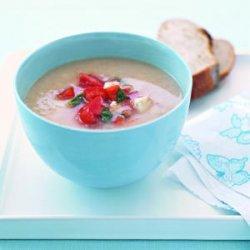 White Bean Soup with Tomato Salsa