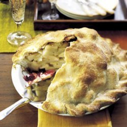 Cranberry-Ribbon Apple Pie recipe