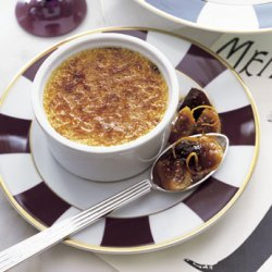 White Pepper Crème Brûlée with Fig and Prune Compote recipe