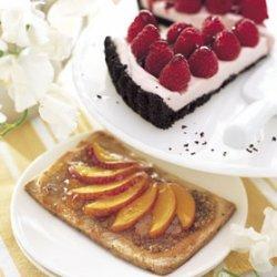 Nectarine-Pecan Cookie Tarts