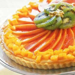 Cheesecake Tart with Tropical Fruits recipe