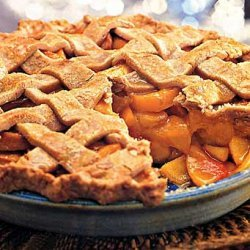Spiced Peach Pie with Lattice Crust