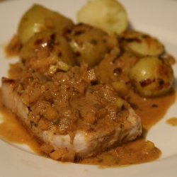 Pork Chops with Curried Apple-Onion Sauce