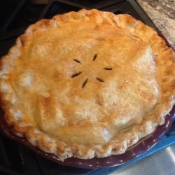 Apple Ginger Pie with Cider-Bourbon Sauce